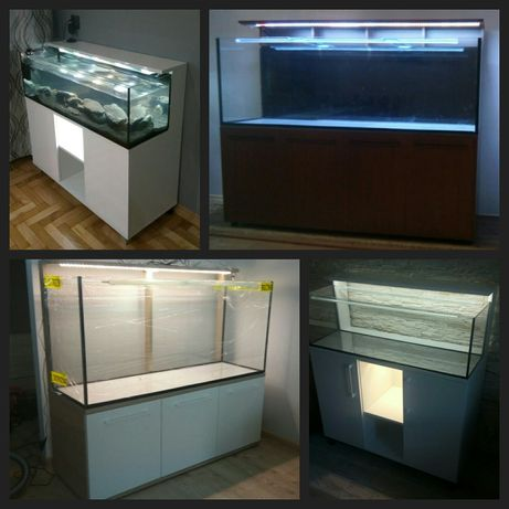 Akwarium/Terarium+szafka+led