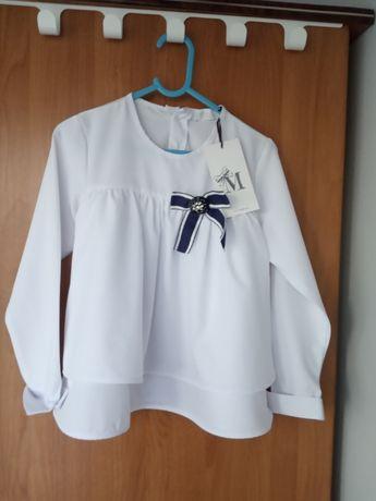 Bluzka dziewczęca, rozmiar 122-128, MałaMi - Nowa