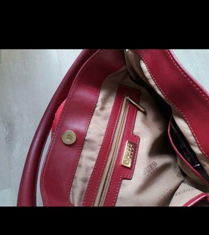 Guess кожа натуральная кожаная сумка оригинал