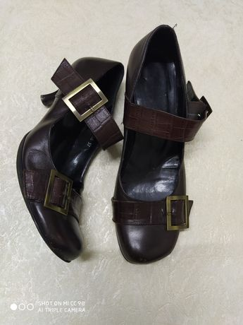 Туфли натуральная кожа стелька 25 см