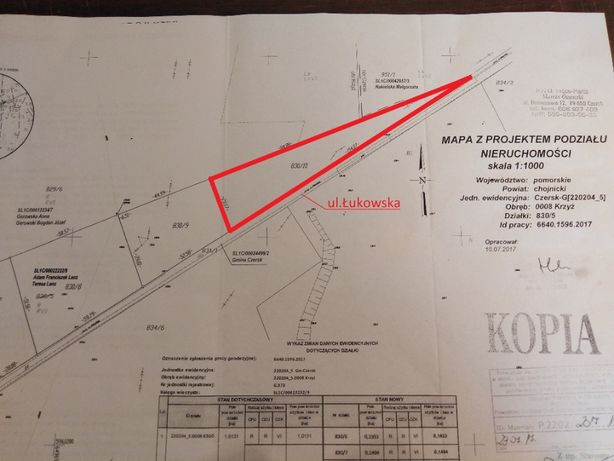 Działka budowlana Czersk 45zł/m2