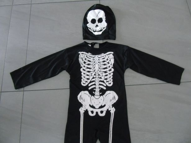 strój karnawałowy szkielecik 6-8 lat