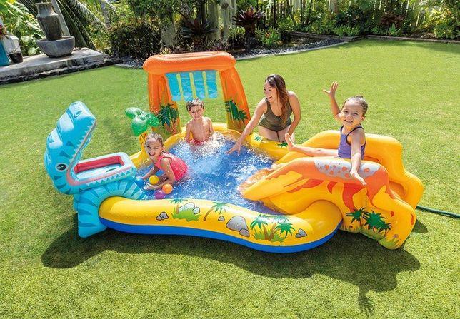 Basen Ogrodowy Plac Zabaw dla Dzieci Zjeżdżalnia + Piłki INTEX