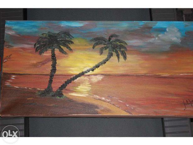 Quadro pintura óleo sobre tela