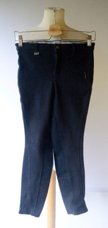 Byczesy Spodnie Granatowe 150 cm 12 lat Jazda Konna CRW Jezdzieckie