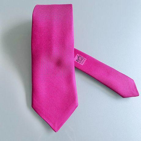 Gravata Hermès Rosa Fuschia