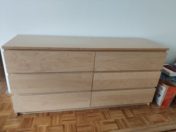 Komoda IKEA Malm, brzoza
