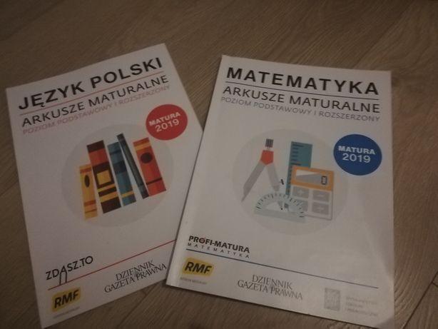 Arkusze maturalne j. polski i matematyka 2019