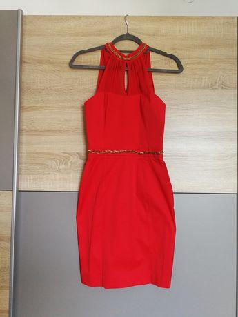 Czerwona sukienka rozmiar XS