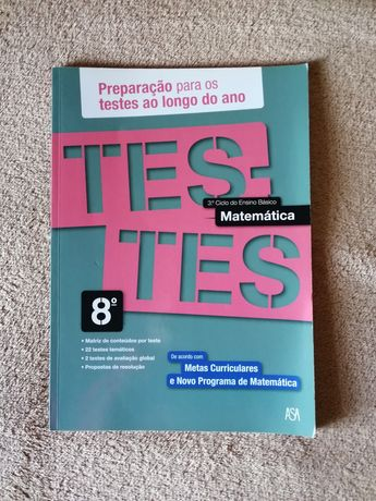 Testes matemática 8º ano - livro auxiliar