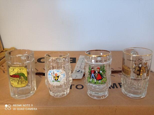Cztery kufle do piwa okolicznościowe 1972r
