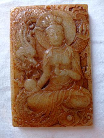 Pendente Jade Nefrite divindade simbologia chinesa