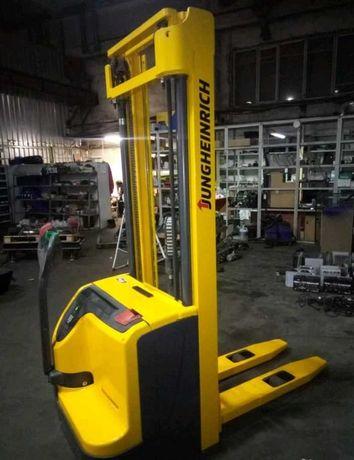 Штабелер электрический Jungheinrich на 1600 кг, электро штабелер кара