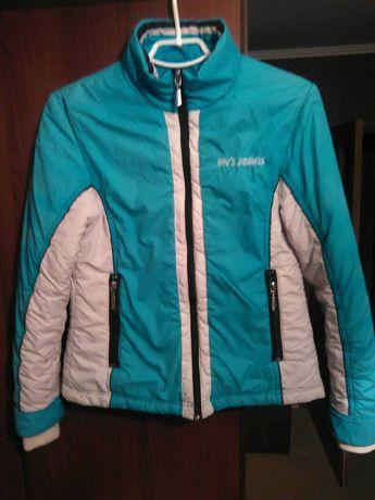 Куртка курточка деми подросток голубая белая
