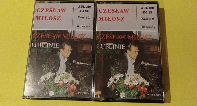 CZESŁAW MIŁOSZ w Lublinie - 1981 UNIKAT kaseta magnetofonowa - komplet