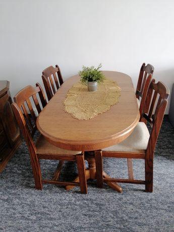 Stół i krzesła 4 krzesła