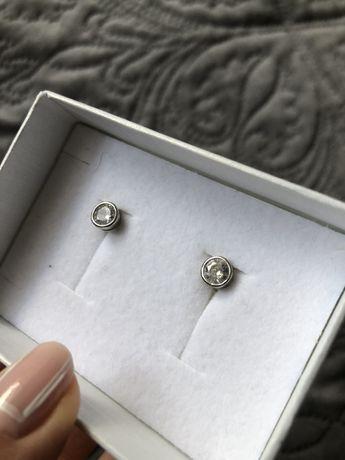 Kolczyki nowe srebrne w ucho
