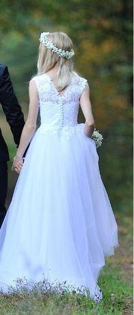 Biała suknia ślubna Cambella