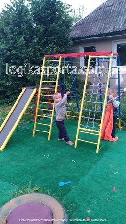 Детская спортивная площадка, горка, спортивный комплекс, качели