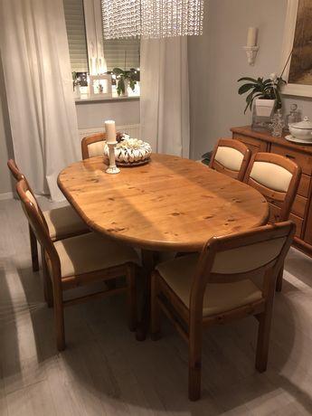 Stół drewniany + krzesła