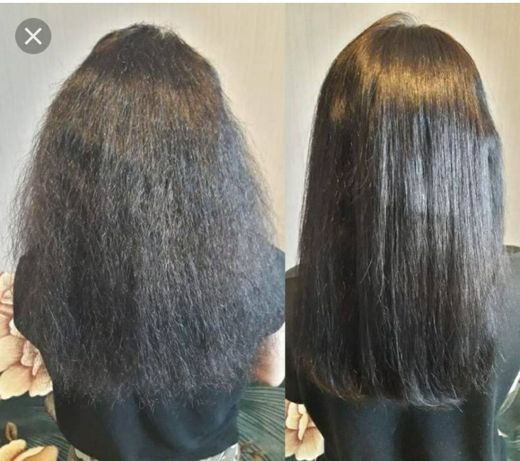 Кератиновое выпрямление волос!