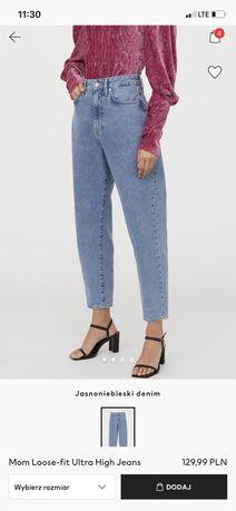 Sprzedam mom fit jeansy h&m stan idealny ! 40