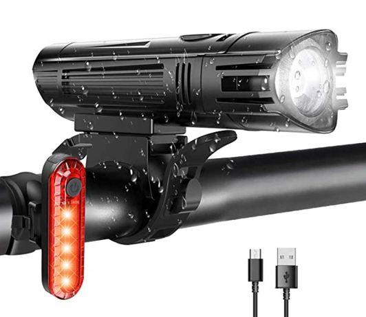 Lampada/ Lanterna para bicicleta Frente e traseira - NOVA