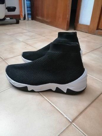 Ténis meia pretos estilo Balenciaga Speed Trainer
