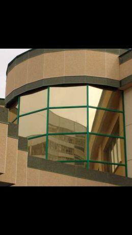 Тонировка окон зеркальная солнцезащитная пленка