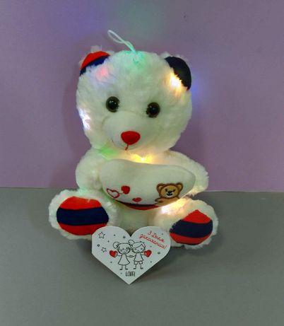 М'який ведмедик з підсвічуванням з серцем Розмовляє Іграшка ведмідь