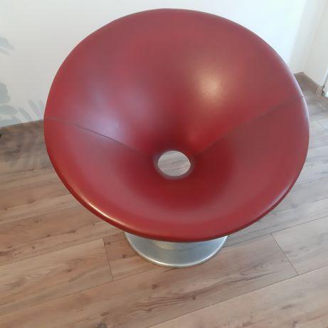Sprzedam designerski bordowy skórzany fotel z lat 60/70