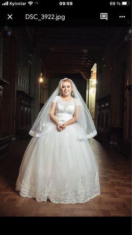 Продам свадебное платье 46-48 размер