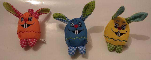 królik zając zabawka portfel dla dziecka pisanka zamykana