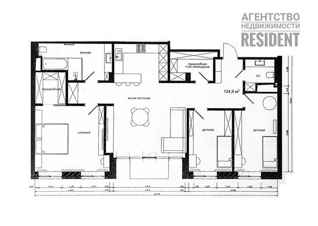 ЖК Амстердам 125 м2. Park Residence Панорама Комфорт Сити Амфитеатр IQ