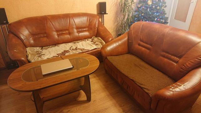 Sofa ekoskóra dwójka + trójka