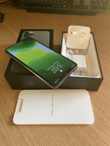 Iphone 11 pro max green 64 GB neverlock + аксессуары