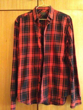 Camisa Zara xadrez vermelha