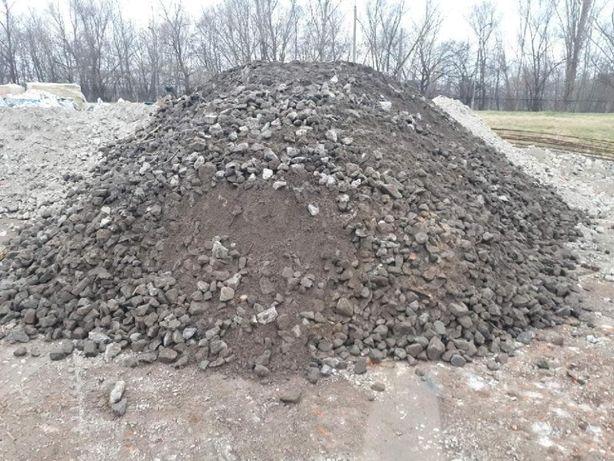 Gruz kruszony betonowy, Kruszywo betonowe, tłuczeń mielony, recykling