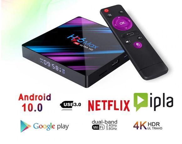 H96 MAX TV BOX 2/16 Gb Android Smart TV Netflix Ipla Wifi Gry 4K NOWA