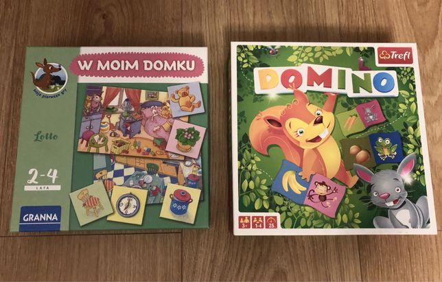 Domino, W moim domku, ukladanki dla dzieci