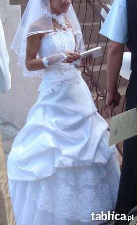 Suknia Ślubna FARAGE PARIS rozm 34-36 + dodatki + gratisy