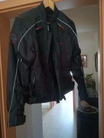 Blusão motard, protecção nas costas, ombros e cotovelos