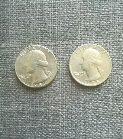 2 moedas Quarter Dollar