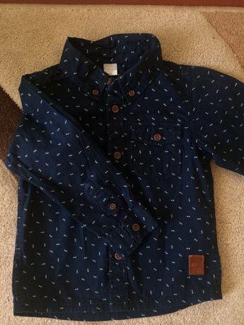 Классная стильная рубашка на мальчика name it 1-1,5 года 92 см