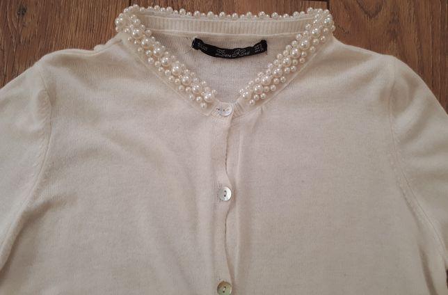 Sweter kardigan Zara 36 perełki