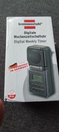 Cyfrowy timer tygodniowy IP44, gniazdo timera cyfrowego