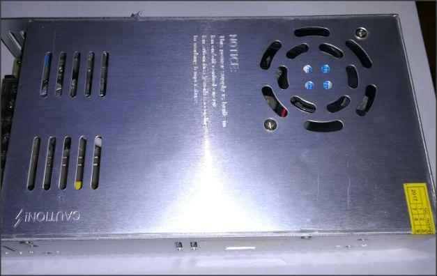 fonte super establizada ventilada 48 volts 10 amperes