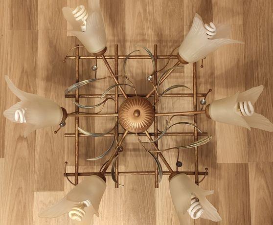 Żyrandol    lampa sufitowa  6 żarówek
