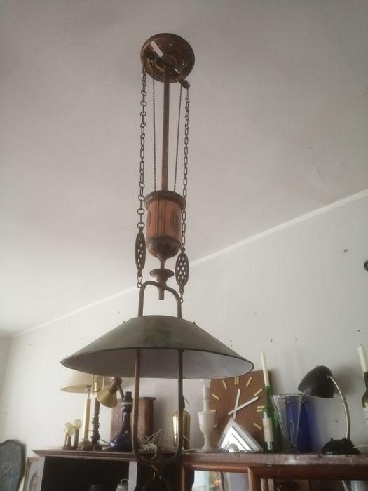 Oryginalna cudna gazowa lampa secesyjna z regulacją dla kolekcjonera Wałbrzych - image 1