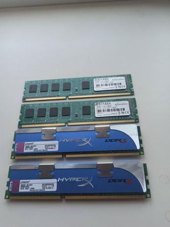 Оперативная память DDR3 Kingston, Exceleram (2x4GB & 2x2GB). ОЗУ.